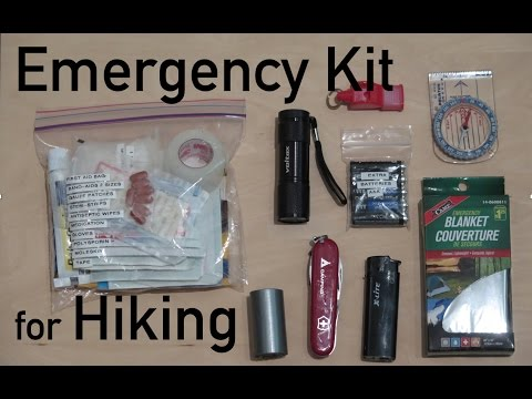 Diy Emergency Kit For Hiking Youtube