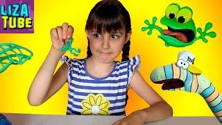 ИГРА челлендж ВЕСЕЛЫЕ ЛЯГУШКИ Лиза и Червяк ШОУ Frogs Funny game lizatube