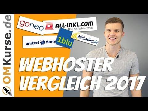 Webhosting Vergleich 2017 | Top 10 beste Webhoster im Test [Deutsch]