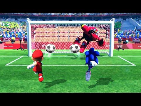 Mario & Sonic at The Olympic Games Tokyo 2020 FootBall - Team Mario Vs Team Bowser (Very Hard Cpu) |