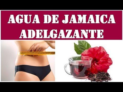 Prepara agua de Jamaica para adelgazar