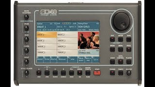 Ketron SD40 Front Panel Overview
