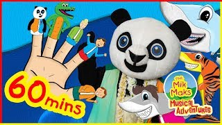 The Finger Family Song with Baby Shark & More | Nursery Rhymes for Kids | The Mik Maks