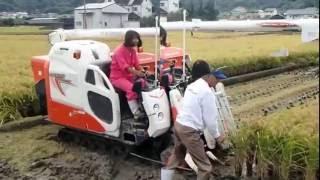 今日は稲刈り!美紀&愛がコンバインに初ライド♡ 美紀&愛は2人ともトラクターには乗ったことがありますが、コンバインは初めて。 農園長とひかりちゃんに教えてもらい ...