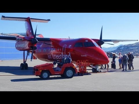 Takeoff Kangerlussuaq Greenland On Air Greenland Dash-8