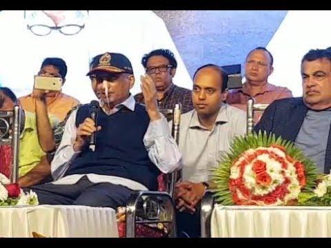 Be positive, ailing Parrikar appeals in 6-minute speech at Mandovi bridge inaugural