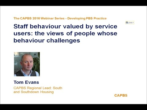 Staff behaviours, views of people whose behaviour challenges by Tom Evans