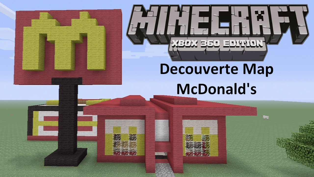 Minecraft Xbox 360 : McDonald's Map - Découverte The best of the ...