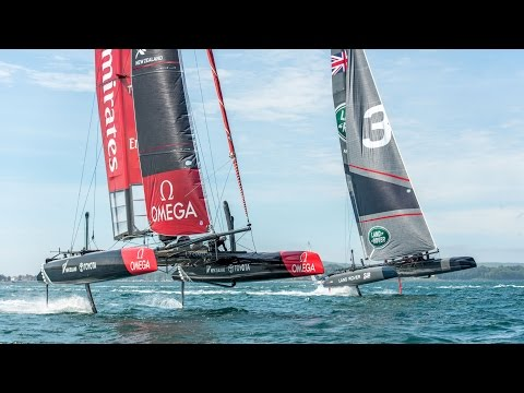 CNN Mainsail, Shirley Robertson - 2015 AC45 World Series