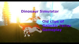 Old clips of Galactic Terror Gameplay /w bombomgaming | ROBLOX Dinosaur Simulator