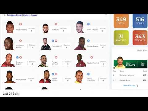 Cpl 2020 1st Semi Final Jam Vs Tkr Live Trinbago Knight Riders Vs Jamaica Tallawahs Live Youtube