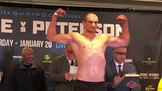 HEAVYWEIGHT CLASH!! - ADAM KOWNACKI v LAGO KILADZE - OFFICIAL WEIGH IN & HEAD TO HEAD