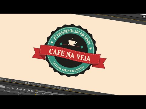 24. After Effects: Vintage Retrô Label Café na Veia