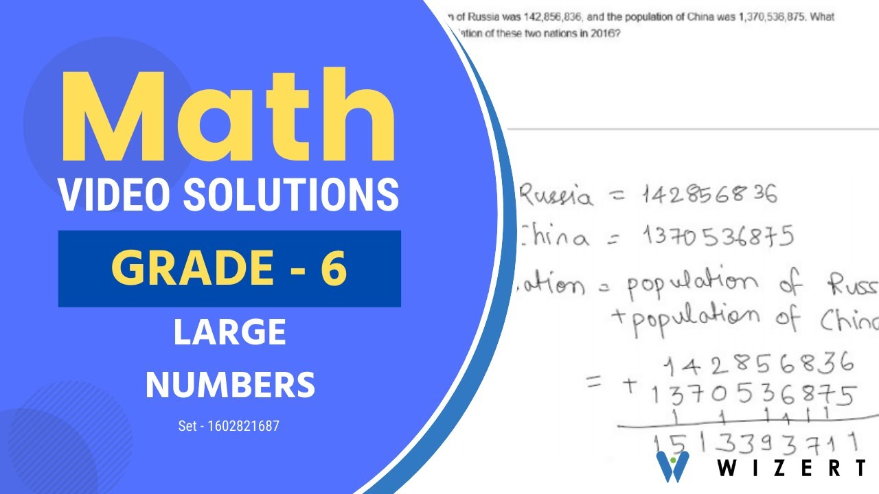 small resolution of Grade 6 Math Tests - Maths Large Numbers worksheets for Grade 6 - Set  1602821687 - YouTube