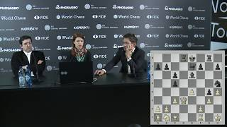 Round 3. Press conference with Aronian and Kramnik