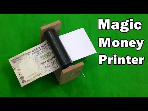How to Make a Money Printer Machine - Fun Magic Trick