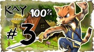 Legend of Kay Anniversary Walkthrough Part 3 (PS4, PS3, WiiU, PS2) 100% Mystic Forest