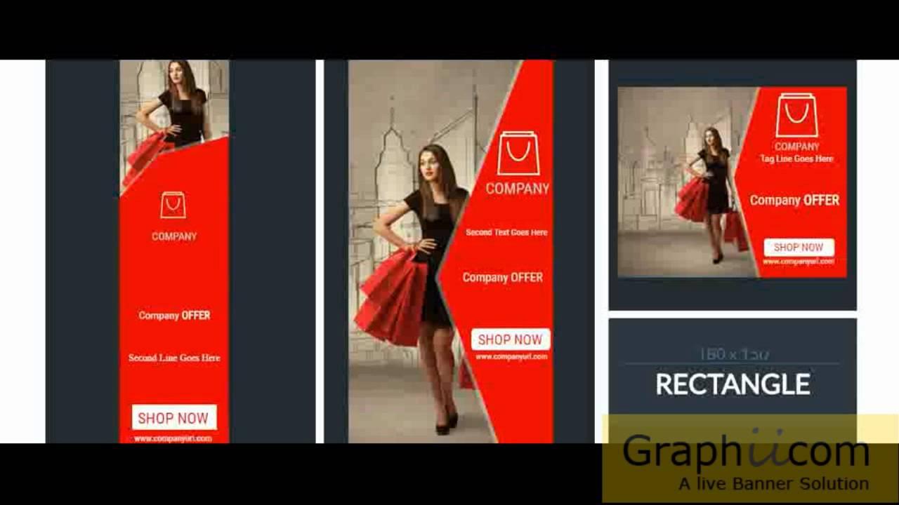 Graphiicom html5 animations online shopping banner for Design online shop