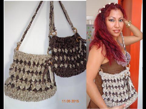 Como hacer bolso colgante a crochet paso a paso youtube - Como hacer bolsos tejidos ...