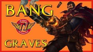 SKT T1 Bang - Graves ADC vs Tristana - Korean Challenger Ranked League of Legends 2014