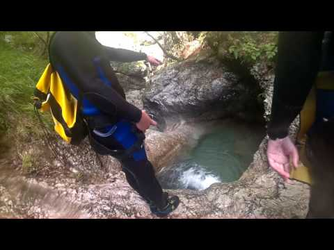 Canyoning X-point Kobarid 20-8-2016