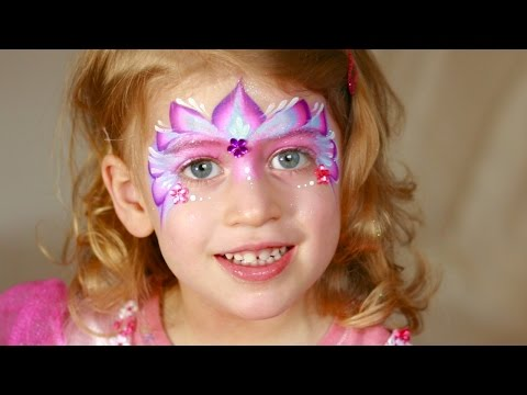 princess face painting maquillage pour enfants doovi. Black Bedroom Furniture Sets. Home Design Ideas
