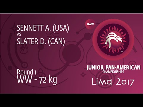 Round 1 WW - 72 kg: D. SLATER (CAN) df. A. SENNETT (USA), 11-2