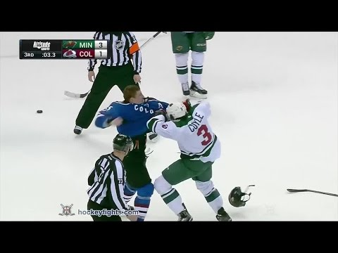 Charlie Coyle vs Cody McLeod Feb 28, 2015