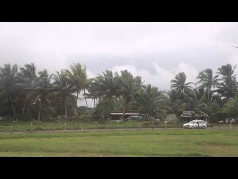 Tonga Décollage de l'aéroport de Nuku'alofa Fiji airways / Tonga Landing Nuku'alofa
