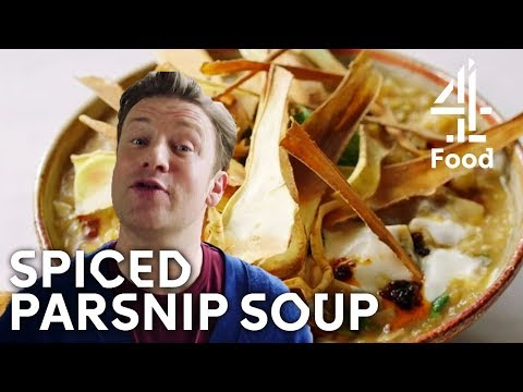 Spiced Parsnip Soup | Jamie's Meat-Free Meals