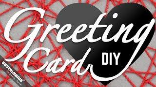 Grußkarte Basteln Herz Valentinstag Muttertag | DIY Greeting Card Heart Valentine