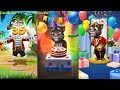 My Talking Tom 2 VS My Talking Tom VS My Talking Hank Gameplay Great Makeover for Children HD