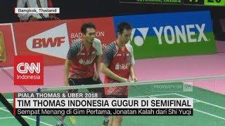 Tim Thomas Indonesia Gagal ke Final Piala Thomas 2018