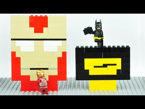 Lego Batman and Iron Man Brick Building Mosaics Superhero Fun Animation thumbnail