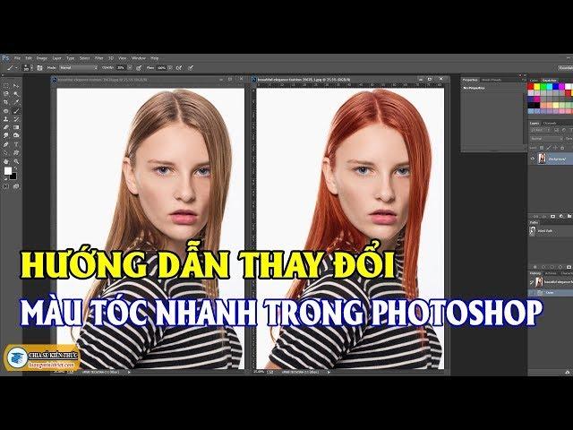 Hướng Dẫn Thay Đổi Màu Tóc Nhanh Trong Photoshop 🔴 Photoshop Tutorial   Lương Minh Triết