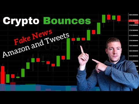Cypto Bounces! Fake Amazon Bitcoin News and Fake Tweets? I'm FIRED Up About Market Manipulation