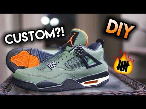 How To: Jordan Undefeated 4 Sample Custom From Thunder 4's | Full Painting Timelapse Tutorial
