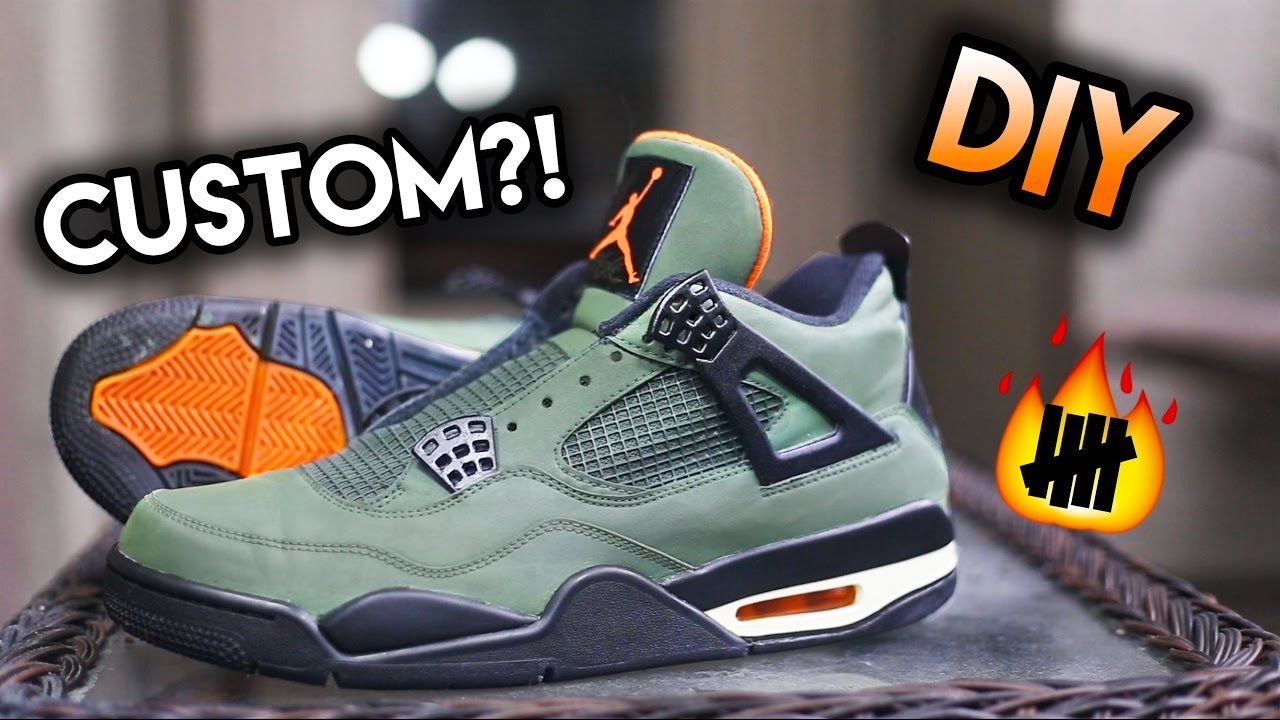 b7c81eae403f How To  Jordan Undefeated 4 Sample Custom From Thunder 4 s