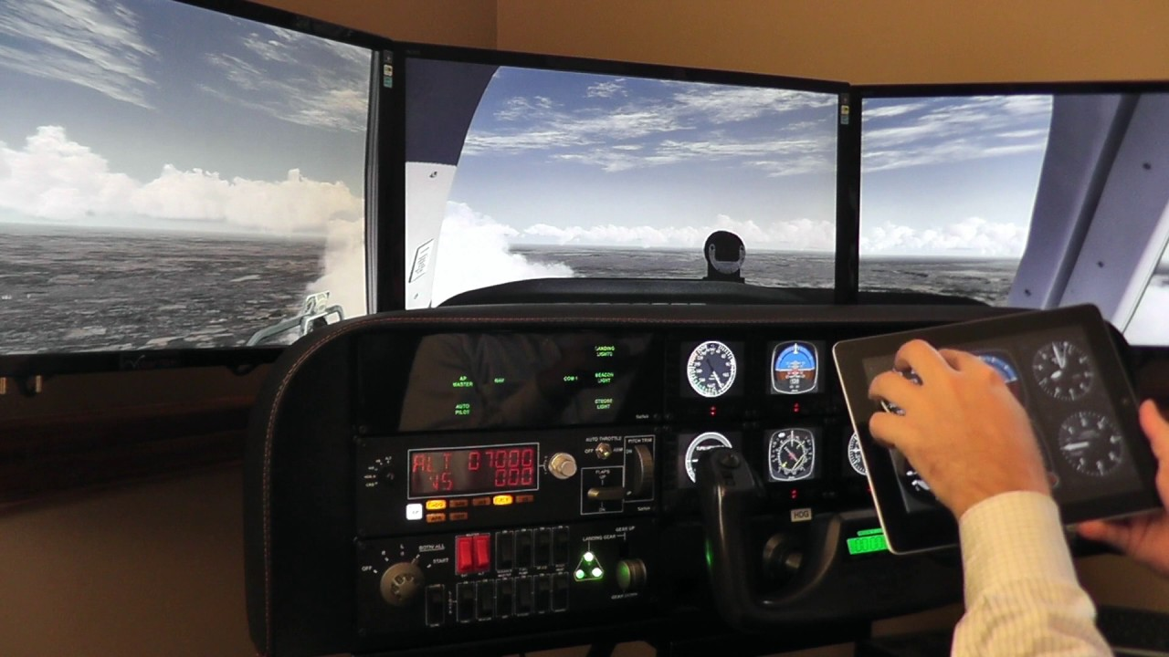 Using iPad with the Volair Sim Avionics Panel and Cockpit