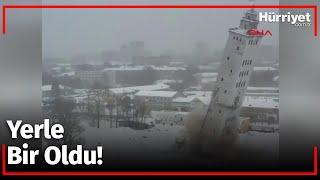40 Metrelik Asansör 5 Saniyede Yıkıldı!
