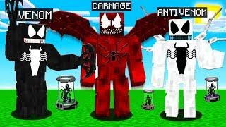 VENOM vs CARNAGE vs ANTI-VENOM MINECRAFT BATTLE!