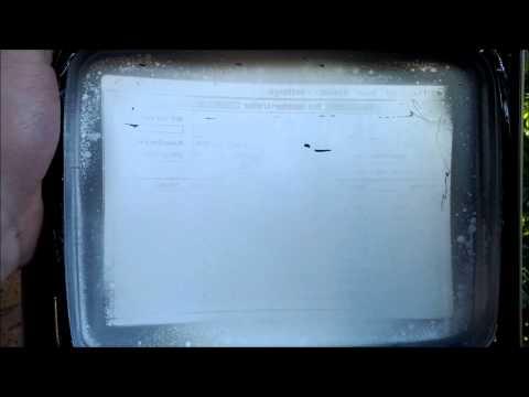[retro swim] - Quick Dip 2012/12/23 - CRT Burn-in