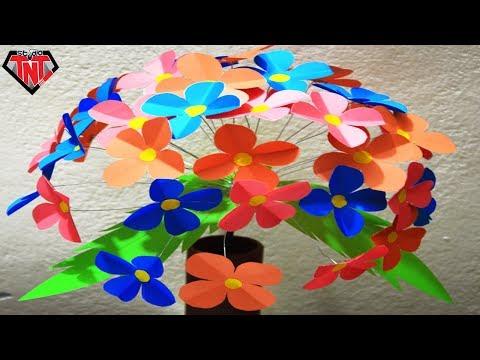 Color Paper Hydrangeas    DIY Simple Paper Crafts    Make Colored Paper Flowers
