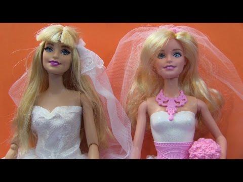 Búp Bê Barbie Và Công Chúa Anna Mặc Váy Cưới/Barbie