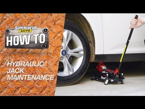 How to - Hydraulic Jack Maintenance // bleeding & topping up oil