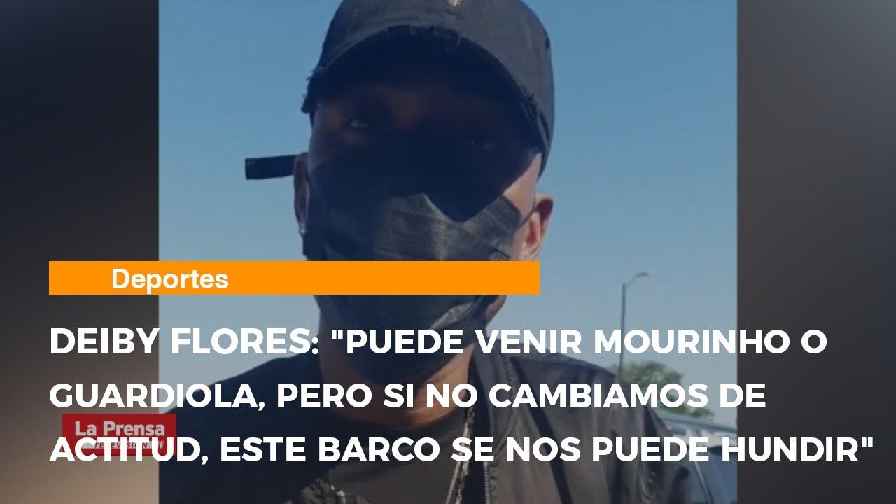 El mediocampista hondureño Deiby Flores, habló en el aeropuerto antes de partir a Grecia.