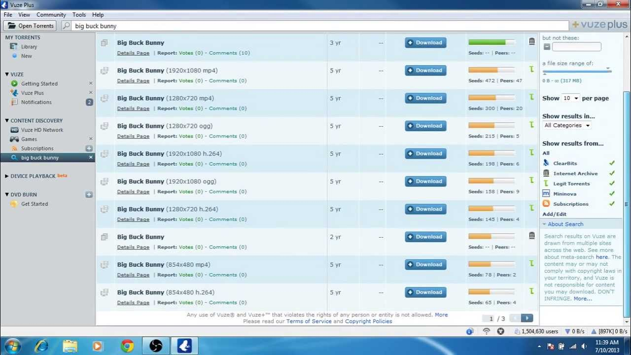 How to Search, Open and Download torrents with Vuze