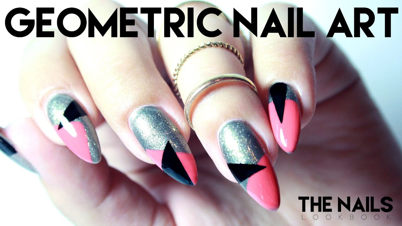 Tutorial geometric nail art youtube prinsesfo Images