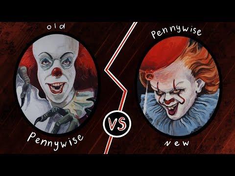 Старый Пеннивайз vs Новый Пеннивайз (рисую ОНО). Old Pennywise vs New Pennywise (Drawing IT)
