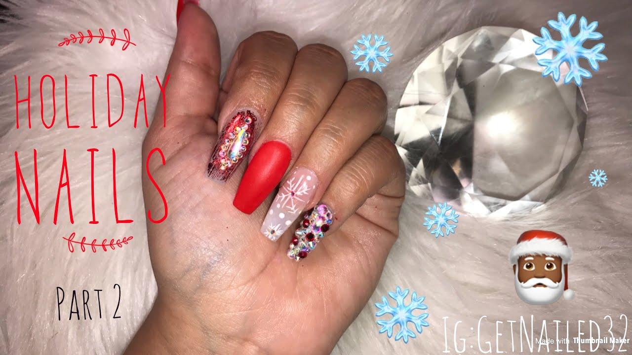Christmas Nails Acrylic.My Christmas Nails Acrylic Coffin Nails